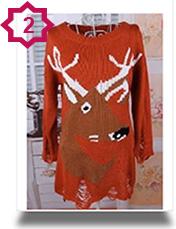 Shabby Chic Xmas Reindeer Sweaters