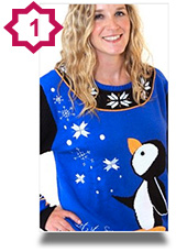novelty Xmas Jumper - Perry the Penguin