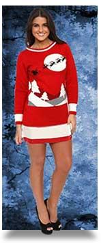 Santa-Sleigh-Christmas-Jumper-Dress