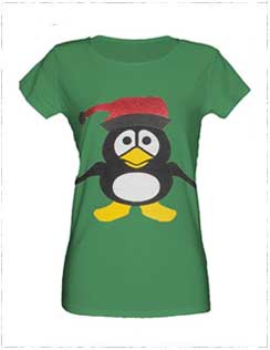 green-penguin-t-shirt