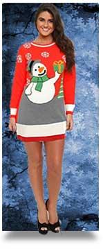snowman-novelty-Xmas-Jumper-Dress