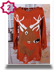 Shabby Chic Xmas Reindeer Sweaters