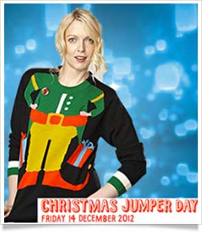 Lauren Lavern supports christmas jumper day